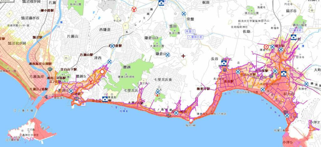 津波に被害予測